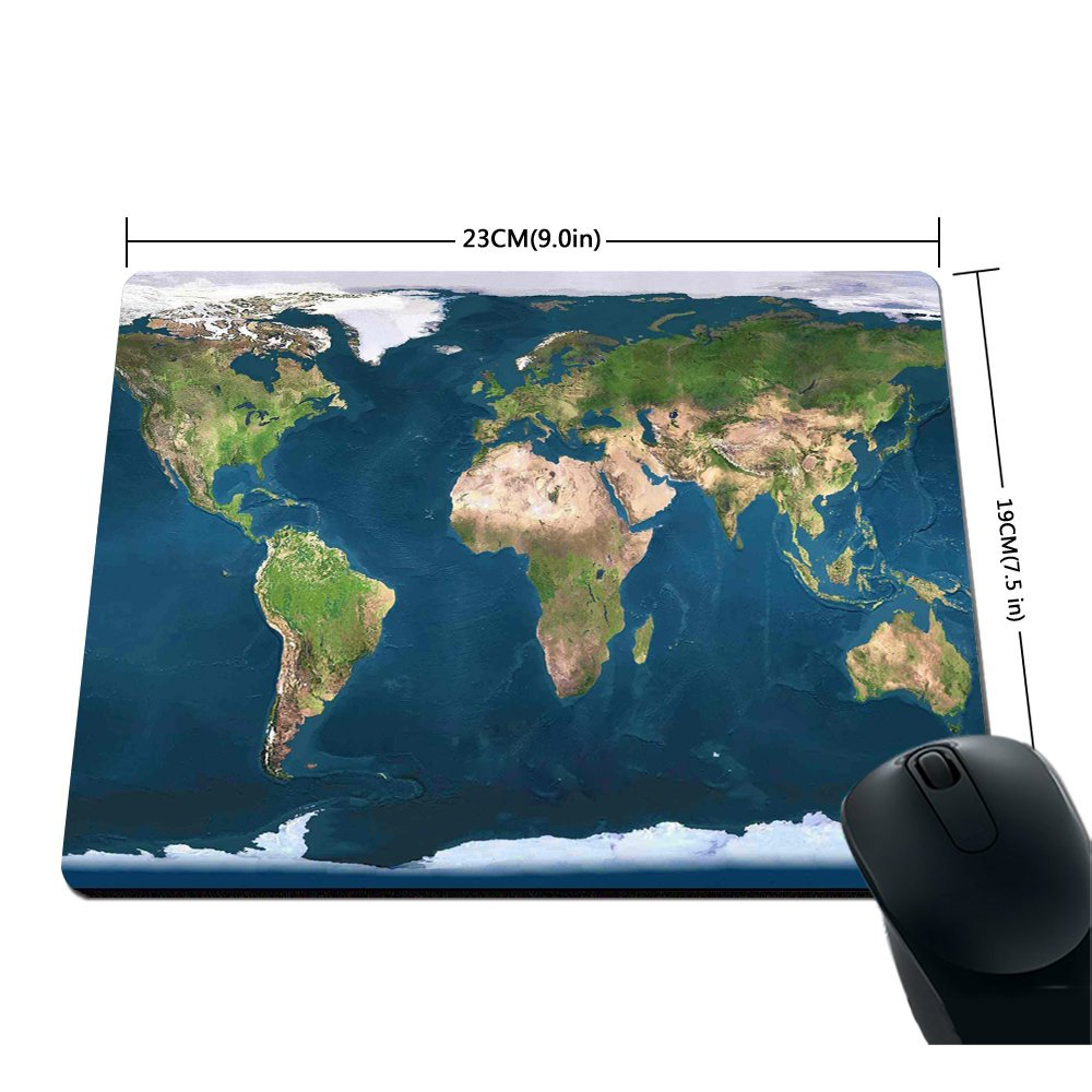 Amazon Com Original Blue Earth World Map Mouse Pad Office Products