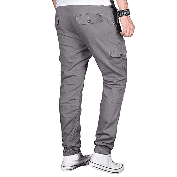 Pantalones Largos Chándal de Hombre Militar Moda Pantalones Deportivos Pantalón Deportivo Jogger sólido Estilo Urbano Pantalones Casuales para Hombre: ...