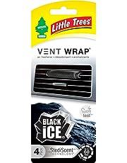 LITTLE TREES CTK-52231-24 Aromatizante Vent Wrap 4 Pack Black Ice, 4, Negro Empaque de, 4 Empaque de