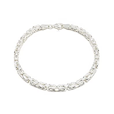 eadab970dadc 925 Silberarmband  Königsarmband Silber 4mm 19cm - KA-40-19  Amazon ...