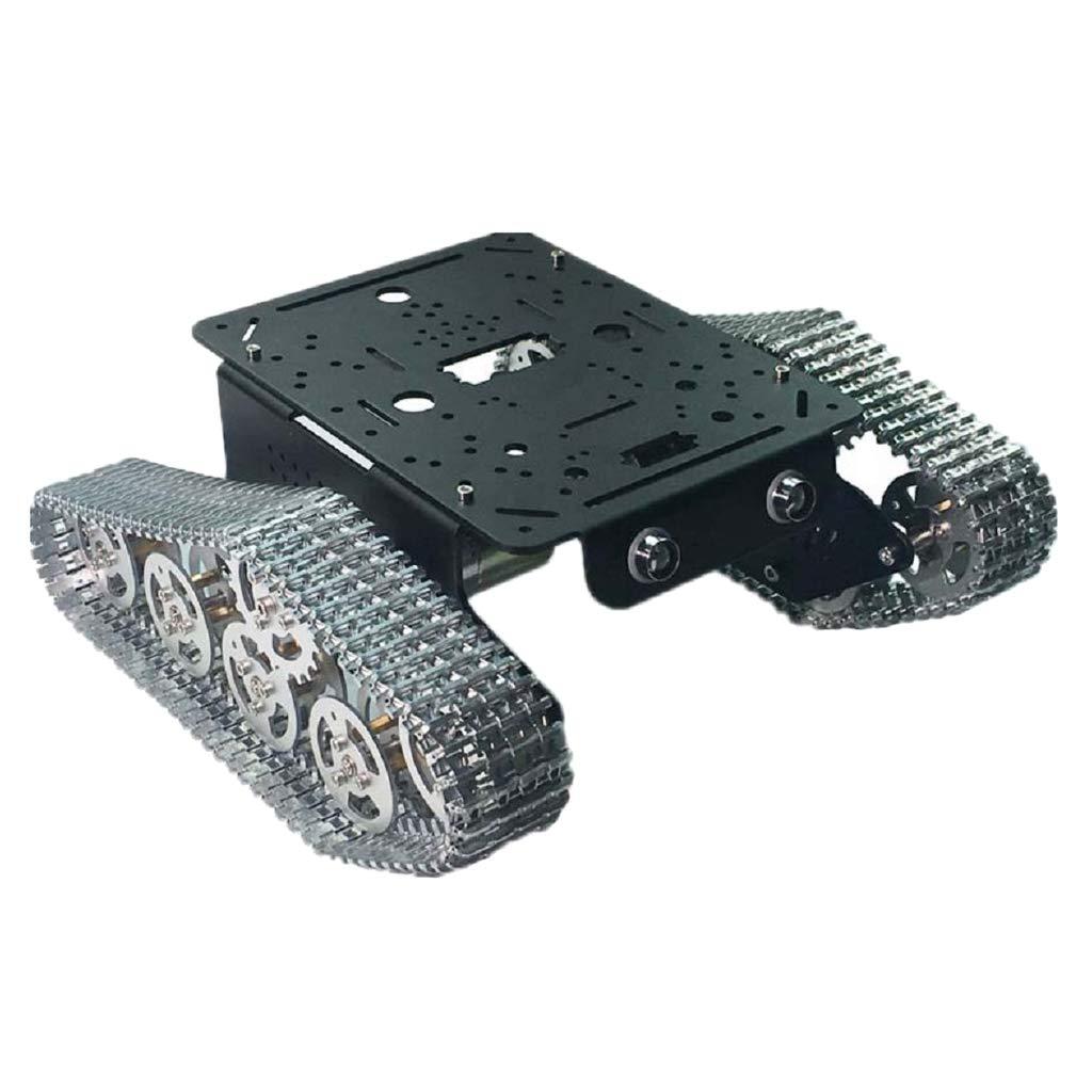 B Blesiya Kit Robot Traccia Carro Armato Piattaforma Controllo Remoto - Multicolore   3