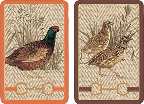 Entertaining with Caspari Double Deck of Bridge Playing Cards, Jumbo Type, Albemarle Hall