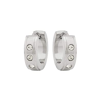 b99a3b79734a6 Dare by Voylla Silver Plated Hoop Earrings For Men: Amazon.in: Jewellery