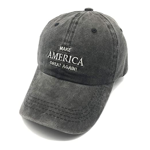 d8fdeeeafcae0 Waldeal Embroidered Make America Great Again Vintage Washed Cotton Caps USA Hats  Black