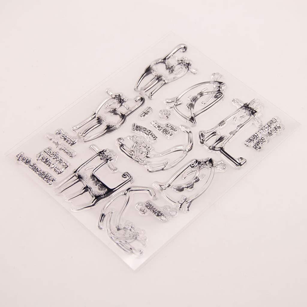 Kunmniz PC Cat 1/timbri in silicone trasparente per decorazione regalo DIY scrapbook album goffratura Craft