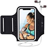 MILPROX Cell Phone Armband, Universal Waterproof Phone Arm Holder with Adjustable Elastic Band & Card Holder Fits for All Pho