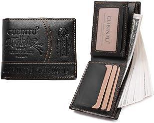 GUBINTU Leather Men Wallet Clutch Bags Card Holders Fashion Coin Purse Money Classic Black Billetera