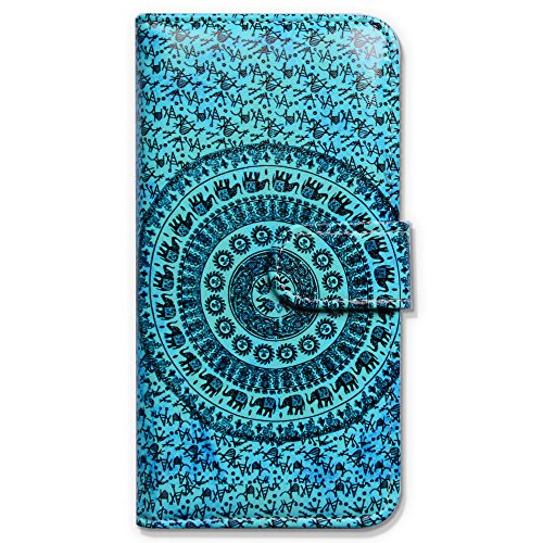 iPhone 6s Plus Case, Bfun Packing Bcov Elephant Mandala Wallet Leather Cover Case For iPhone 6 Plus/6S Plus