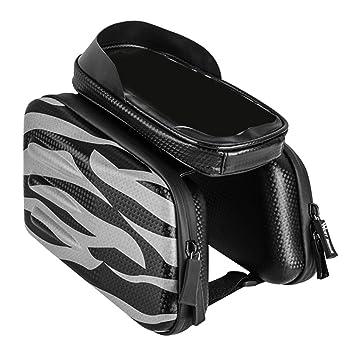 CUTICATE Bolsa de Tubo Bicicleta con Pantalla Táctil Alforja de ...