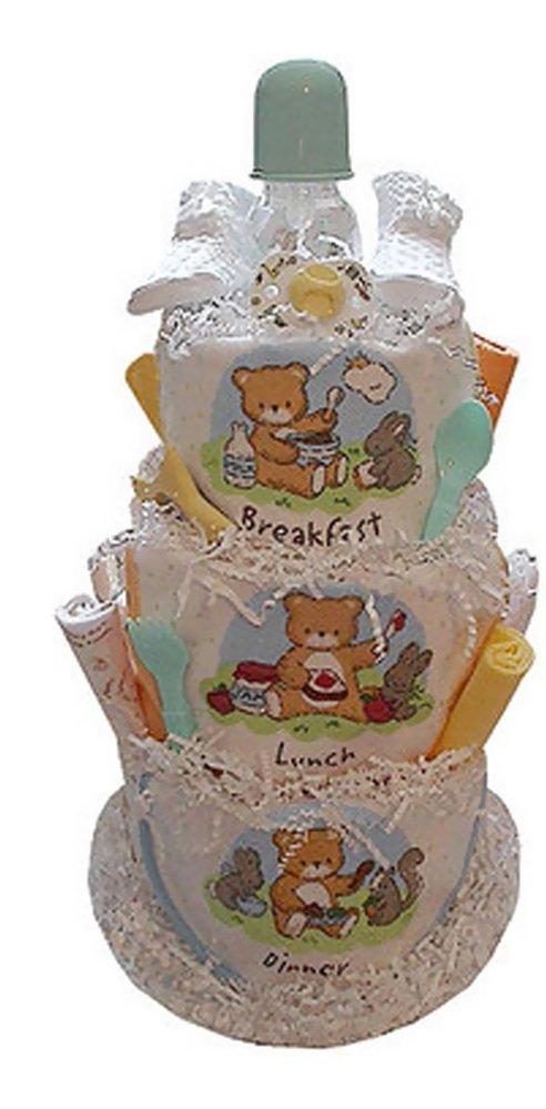 Babygiftidea Decorative Centerpiece Newborn Baby Shower Gift Breakfast, Lunch & Dinner Diaper Cake by Baby Gift Idea   B00KLWVU9W