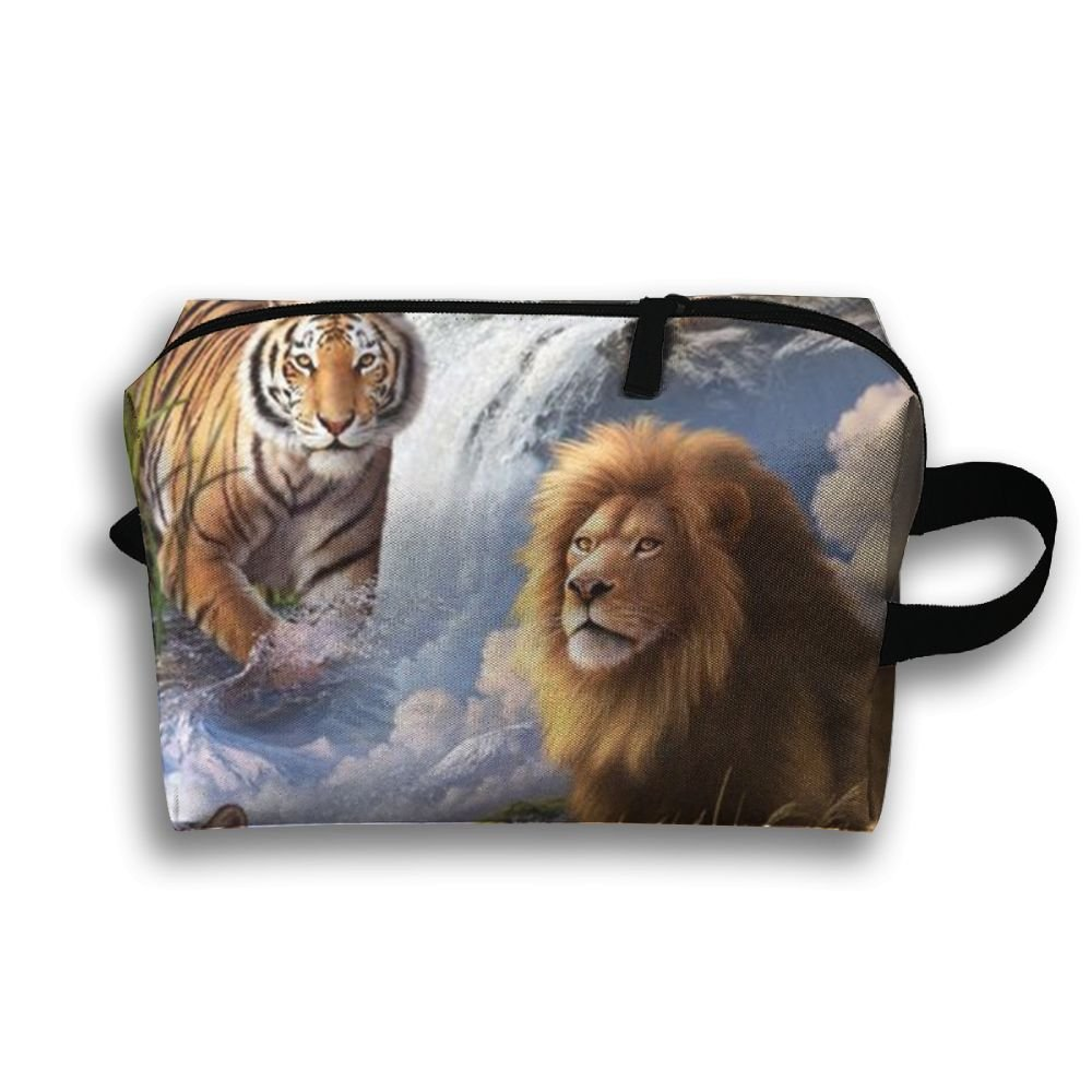 1985a6ce1646 outlet Lion Tiger Leopard Power Animal Travel Storage Bag Delicate ...