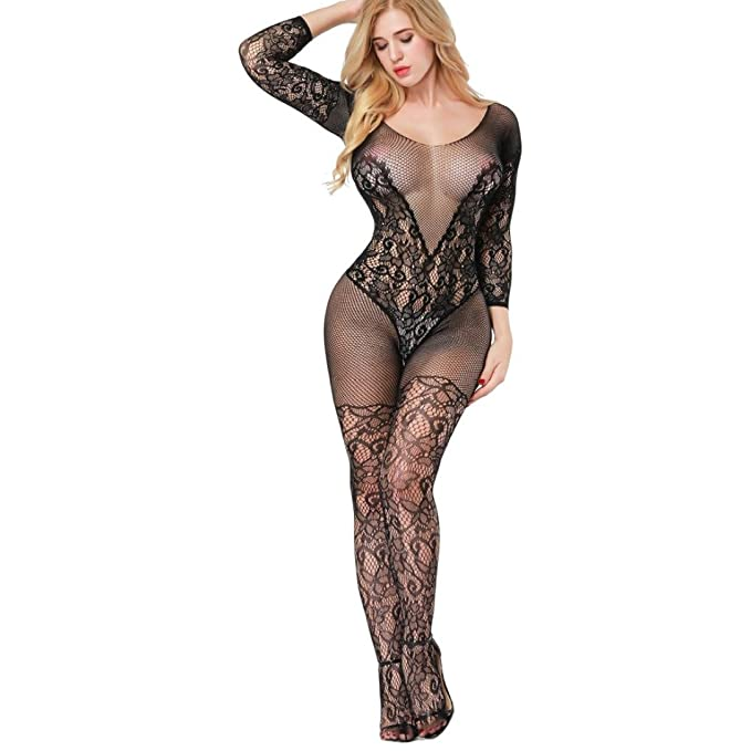 23ea3a85f7 U.Expectating Sexy Womens Mesh Bodystocking Lingerie