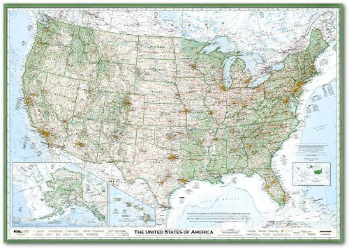 (The Essential Geography of the United States of America, Flat/Rolled poster paper)