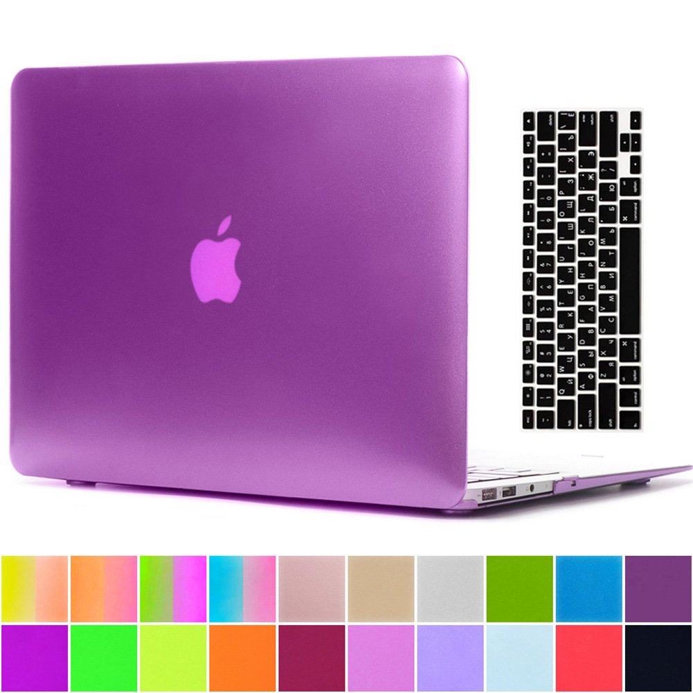 AY0070 Macbookシリーズ用ケース + キーボードカバー プロテクター Macbook Air 11 AY0070-11Air-Metallic-Purple B01LY3AEW3 Macbook Air 11,C2 Metallic Purple