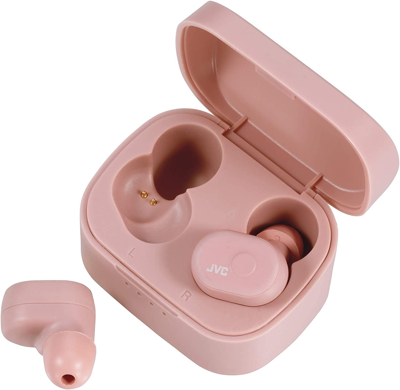 JVC - Auriculares Inalámbricos Ha-A10T-P-U, Bluetooth, 4 Horas, Resistente Al Agua, Micrófono, Rosa