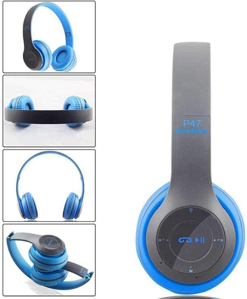 Yealsha Bluetooth V4.2 Headphones Over Ear, Hi-Fi Stereo Wireless Headset, Foldable, Soft Memory-Protein Earmuffs, w/Built-in Mic and Wired Mode for PC/Cell Phones/TV