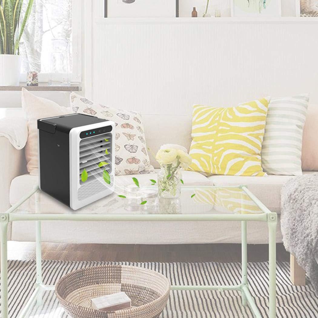 Pinsparkle Portable USB Interface Button Control Desktop Air Cooler Home Office Fan Personal Fans