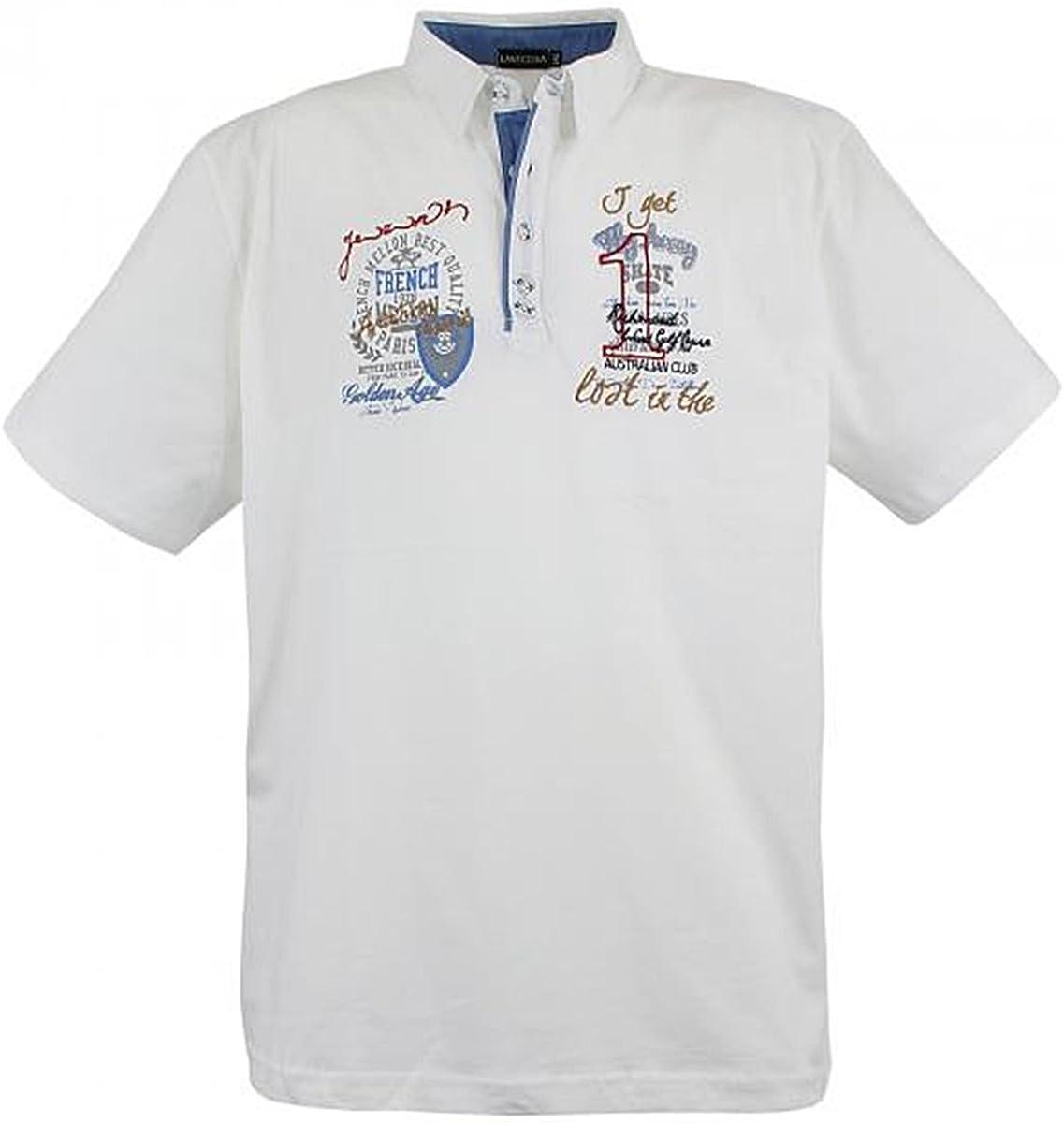 Lavecchia Mens Polo Shirt Black Big Sizes