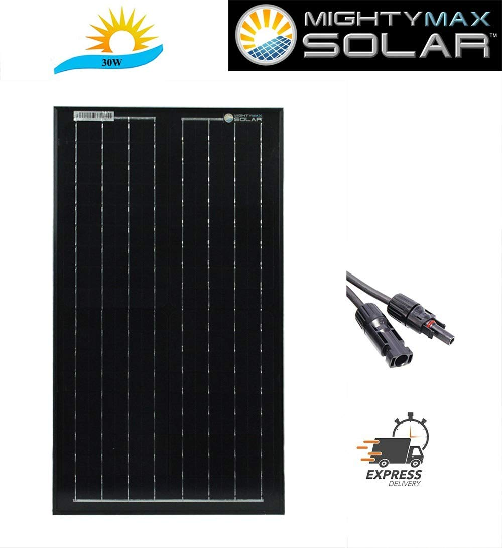 Mighty Max Battery 30 Watt Monocrystalline Solar Panel Brand Product