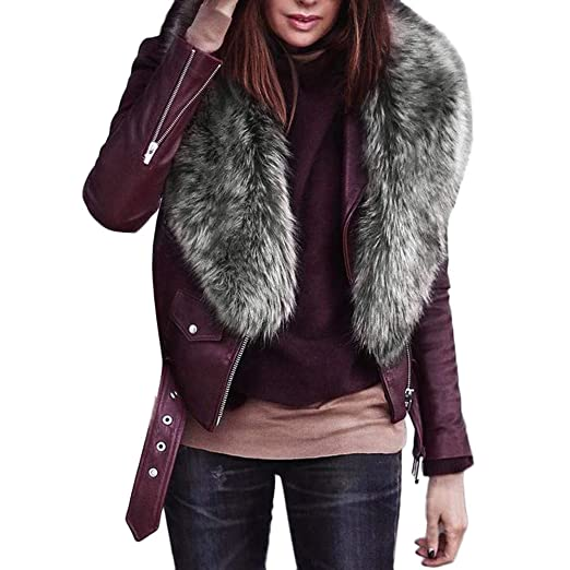 e81e0857e Amazon.com: Faionny Womens Faux Fur Collar Scarf Thick Shawl Fluffy Collar  Wrap Winter Warm Stole Fashion Soft Scarves: Clothing