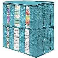 Wumedy Clothes Blanket Storage Bag Organizer Box