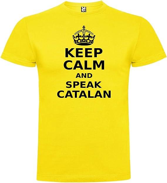 Camiseta Catalunya Keep Calm and Speak Catalan Manga Corta ...