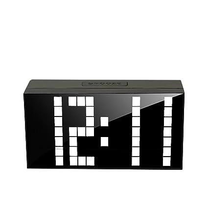LambTown Reloj Digital LED con Luz de Noche Fecha de Temperatura - Blanco