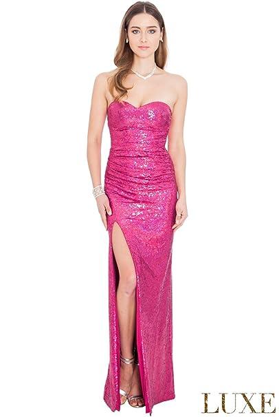 Goddiva - Vestido de novia - Sin mangas - Mujer Rojo Cereza