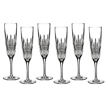 WATERFORD 5 oz Lismore Diamond Flute Champagne Glass