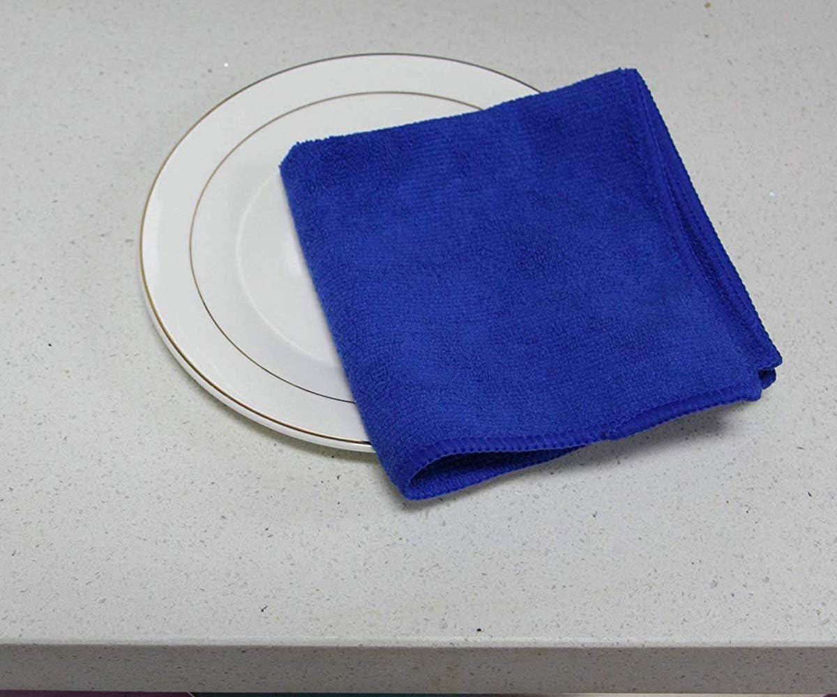 Hidmd Mikrofasertücher Geschirrtücher Haushalts Handtücher Super Saugfähig Mikrofaser Reinigungstücher Geschirrtücher Mehrzweck 30cm X 30cm 10 Stück Blau Küche Haushalt