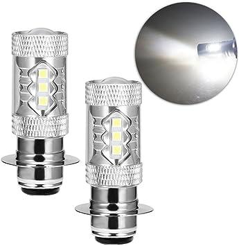 For Yamaha Rhino Super White LED Headlight Bulbs 80W 2001 2002 2003 2004 2005 06