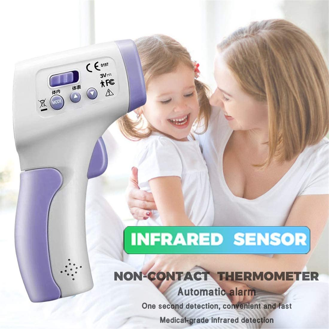 Freeby Forehead Thermometer Digital Infrared Body Temporal Thermometer Temperature Measurement Tool