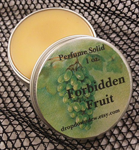 Forbidden Fruit Perfume Solid, Perfume Balm, 1 oz, Orange, Lemon, Grape, Almond, Rose Petals, Aromatherapy, Essential Oils, Fruity Perfume by Buanhandmade