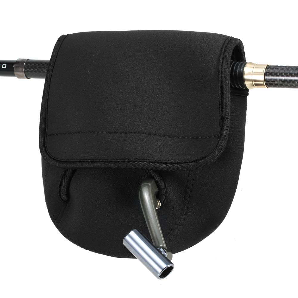 Lepeuxi Fishing Reel Bag Soft Protective Cover Case for Spinning Reel