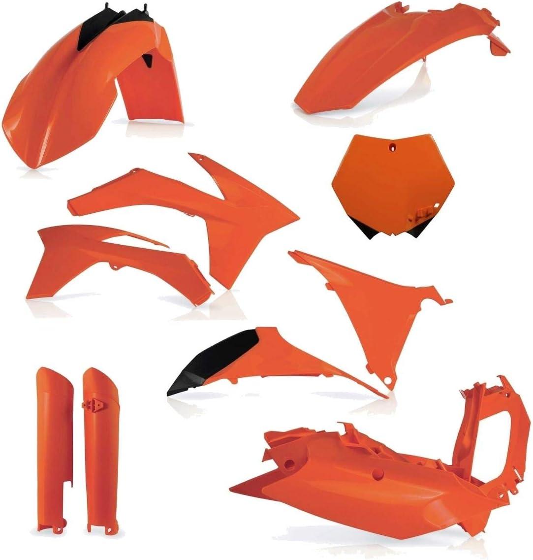 Acerbis Rear Fender//Side Panels KTM Orange for KTM 200 XC-W 2008-2011