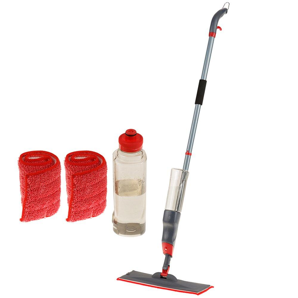 KLHB-YF Wet Mop Hand Push Microfiber Spray Mop, 51-inch No-slip Handle 360 Degree Professional Water Spray Cleaning For Hardwood Floor, Kitchen, Living Room, Bathroom with 2 Free Reusable Mop Pad