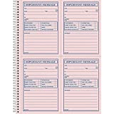 Adams Business Forms : Message Book, Spiral, Carbonless, 11amp;quot;x8-1/2amp;quot;, 200 Sets -:- Sold as 1 EA