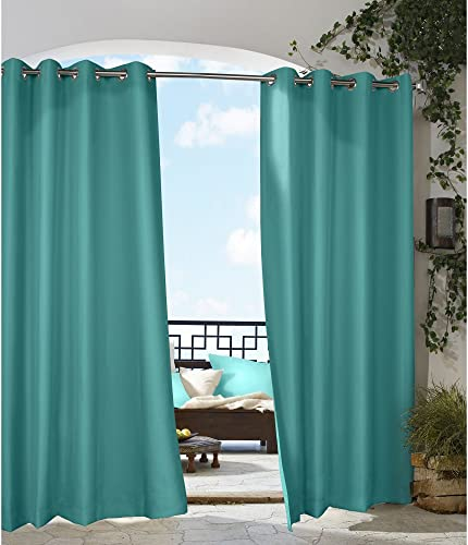 Commonwealth Outdoor Decor Gazebo 108 Grommet Curtain Panel in Aqua