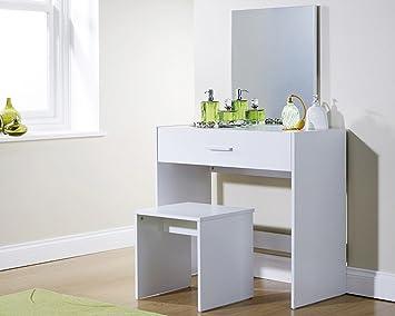 Julia toeletta e sgabello in colore bianco: amazon.it: casa e cucina