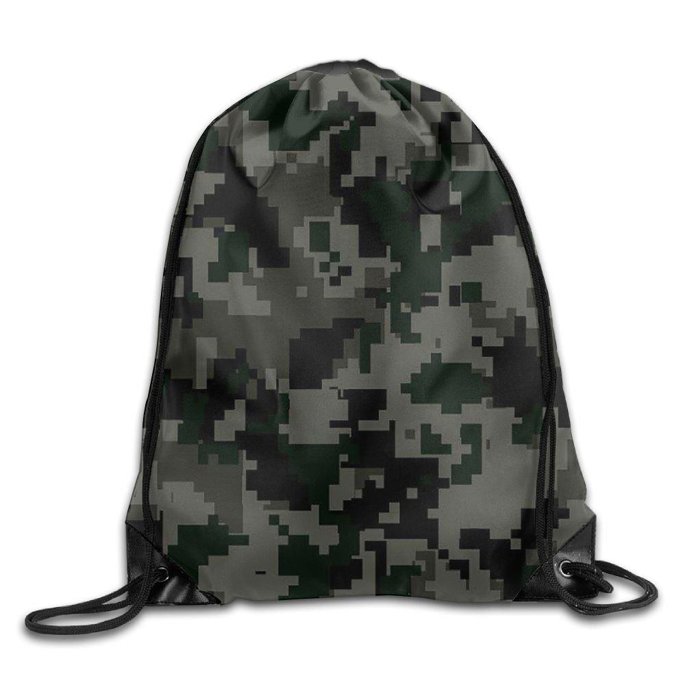 Admrユニセックス迷彩Basicsクラシック軽量巾着ジム袋バッグバックパックのハイキング水泳ヨガ B076PXNRYB