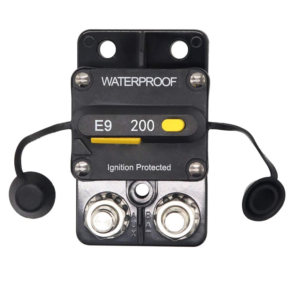 200Amp Auto Marine Waterproof Electrical Circuit Breaker Surface Mount
