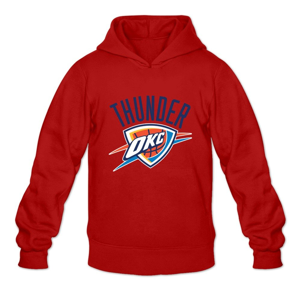 timeless design b3cac 1970c Men s Oklahoma City Thunder Logo 100% Cotton Hoodies Sweatshirt Red Size S  Comfortable By Rahk Apparel