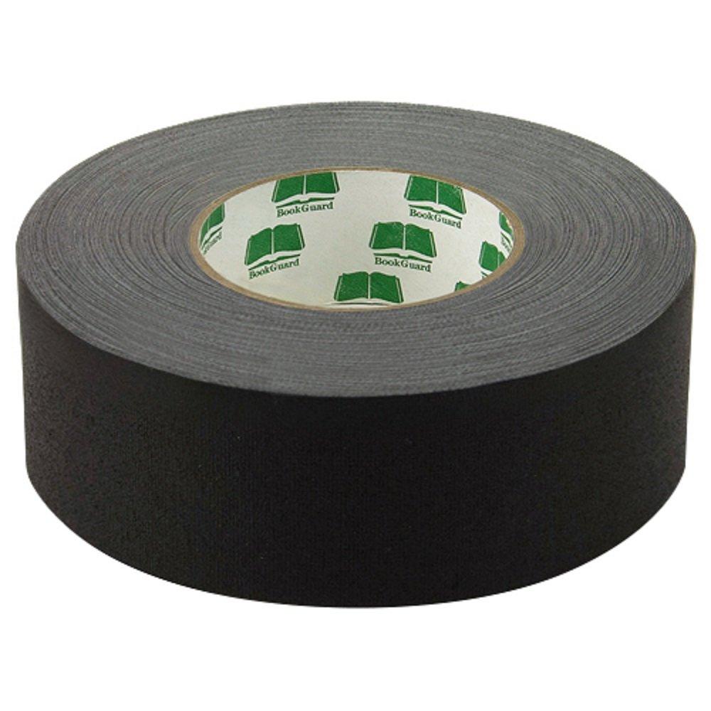 BookGuard Premium Cloth Book Binding Repair Tape 1 1/2''W x 60yd Roll (Black)