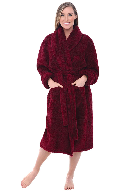 Del Rossa Women\'s Fleece Robe, Plush Microfiber Bathrobe at Amazon ...