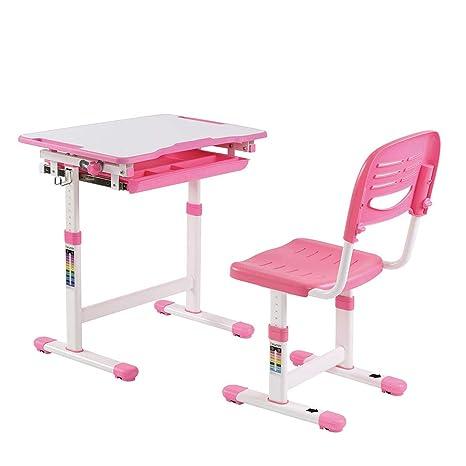 With a pulled-out compartmented storage drawer Tiltable White Board Desktop /& Anti-Pinch safety design Blue EFurnit Jupiter Series Ergonomic Adjustable-Tiltable Desk /& Chair Set For Kids