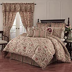 Waverly Imperial Dress Comforter Set, 96x92, Antique