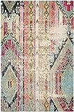 """Safavieh Monaco Collection MNC222F Alfombra bohemia multicolor de área envejecida (6'7 """"x 9'2"""")"""