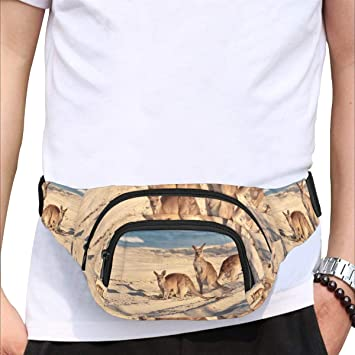Cute Lamb Funny Animal Fenny Packs Waist Bags Adjustable Belt Waterproof Nylon Travel Running Sport Vacation Party For Men Women Boys Girls Kids