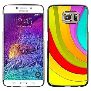 Shell-Star Arte & diseño plástico duro Fundas Cover Cubre Hard Case Cover para Samsung Galaxy S6 / SM-G920 / SM-G920A / SM-G920T / SM-G920F / SM-G920I ( Color Stripes )