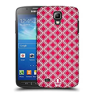 Head Case Designs Hot Pink Quatrefoil Protective Snap-on Hard Back Case Cover for Samsung Galaxy S4 Active I9295